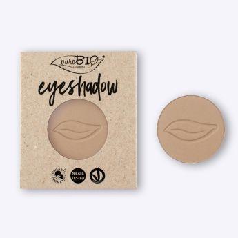 Recarga de sombra de ojos Beige Mate PUROBIO.  Recarga magnética para envase principal. Tono ideal para el día y la noche. Maquillaje profesional.  #CosmeticaNatural #MaquillajeVegano #MaquillajeNatural #Purobio #Eyeshadow #vegano