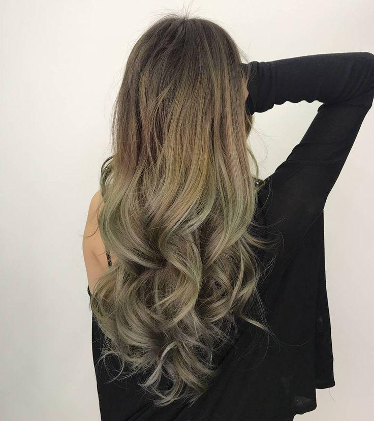 ash green hair ideas