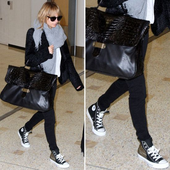 Nicole Richie Studded High-Top Converse | POPSUGAR Fashion