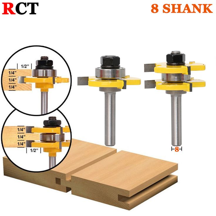 """2 pc 8mm  Router Bit Set 3/4"""" Tongue & Groove Joint Assembly //Price: $32.00 & FREE Shipping //     #wood drills  #CARVING CHISEL  #Double Feather   #Board Router   #Drill Chuck Screwdriver   #Drill Bit"""