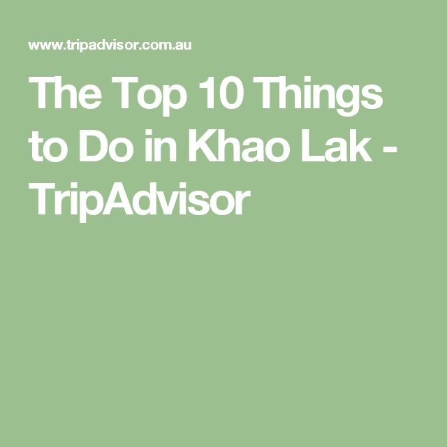 The Top 10 Things to Do in Khao Lak - TripAdvisor