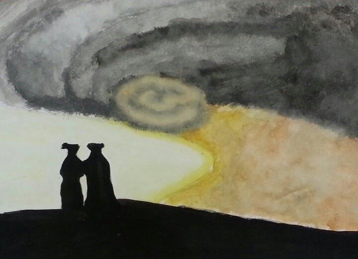 Romantic landscape (hurricane) - Marta, age 14