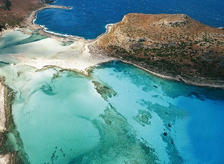 Balos lagoon from above, Gramvousa peninsula, western Crete