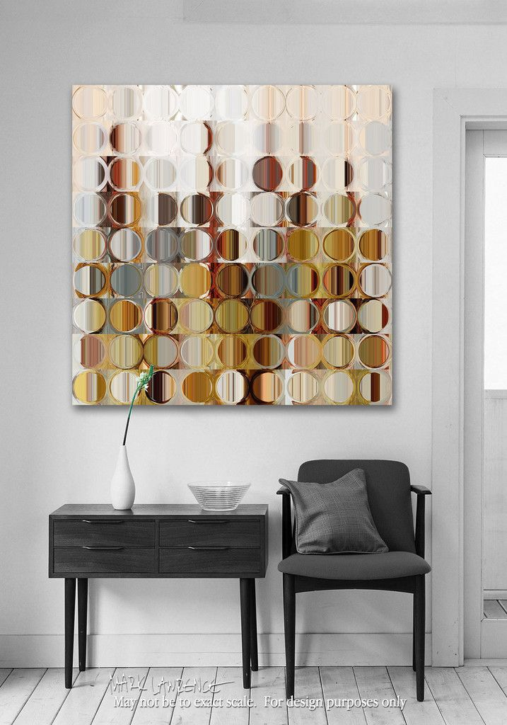 Abstract Art | Circles and Squares #36. Modern Fine Art | Limited Edition