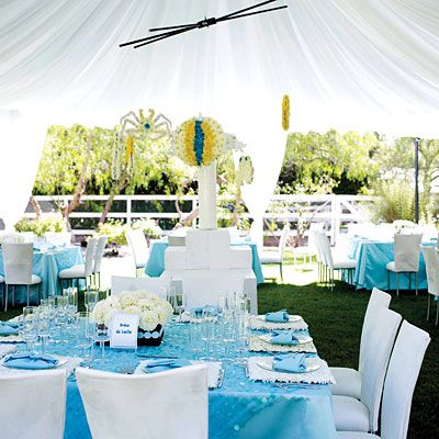 outside party - boy baby showerBaby Shower Ideas, Tiffany Blue, Baby Shower Centerpieces, Baby Boys, Shower Decor, Parties Ideas, Boys Shower, Boys Baby Shower, Baby Shower