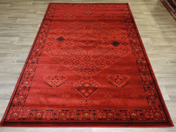 Afghan Design Rug Size: 230 x 160cm