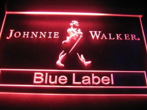 LE147- Johnnie Walker Blue Label Bar NR Sign Light Neon
