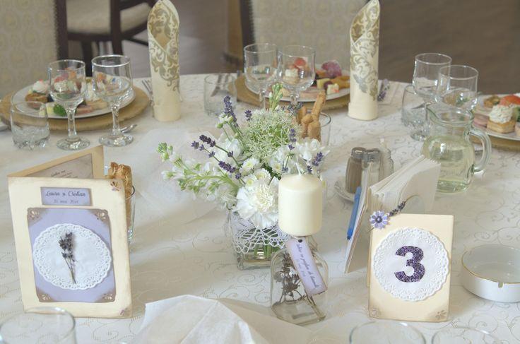 Lavender table setting