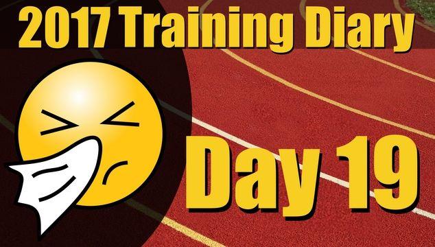 2017 Training Diary: Day 19 – 3km run, still sick