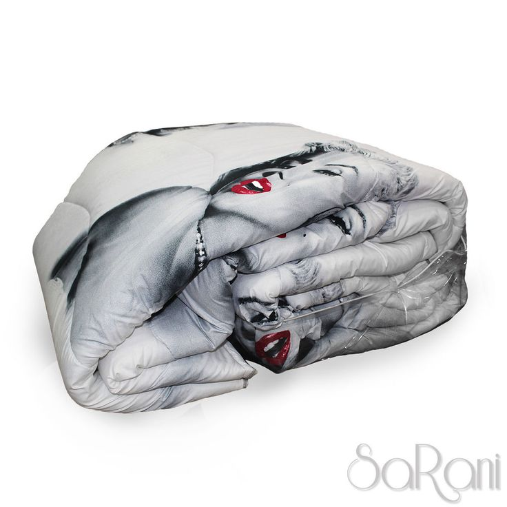 Trapunta Invernale Matrimoniale Singola Grigio Marilyn Monroe Stampa Digitale 3D