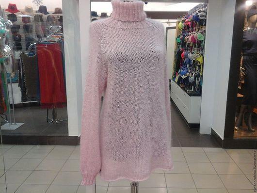 Кофты и свитера ручной работы. Ярмарка Мастеров - ручная работа. Купить свитер из кид мохера с шелком розовый жемчуг. Handmade.