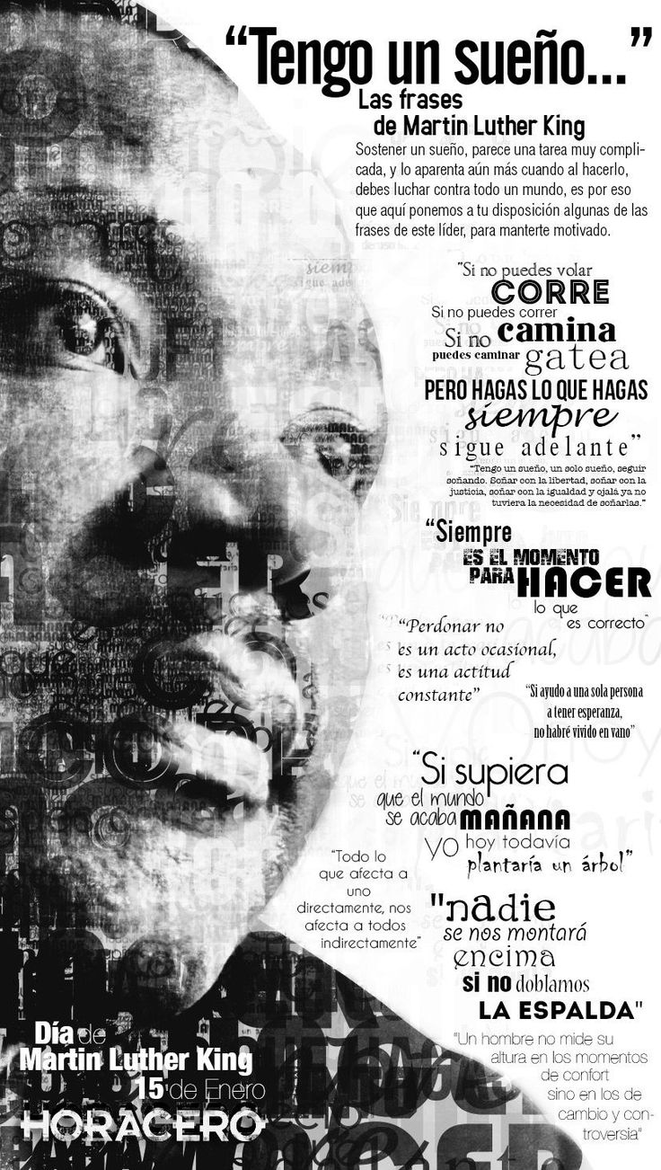 Martin Luther King Spanish poster