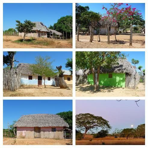 Corozal. Mosaico de casas rurales.