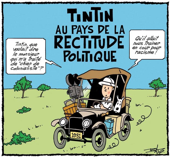 pastiche tintin -