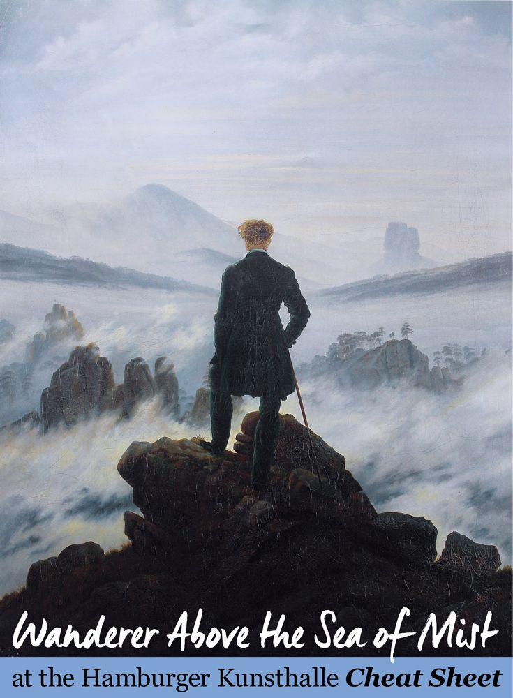Wanderer Above the Sea of Mist at the Hamburger Kunsthalle Cheat Sheet