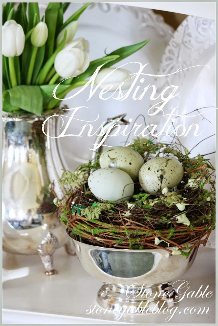 NESTING INSPIRATION Lots of ways and places to tuck nests into your decor! stonegableblog.com