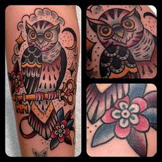 neo traditional owl tattoo - Google Search