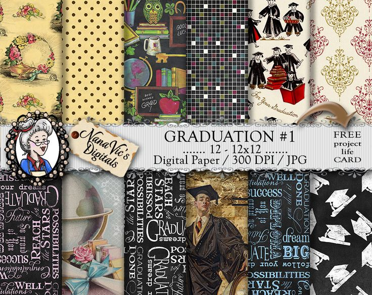 Guaduation Digital Paper, backgrounds, chalk texture, Scrapbooking Printable, photography, vintage graduate, 12 H Res 300 DPI By Nana Vic by NanaVicsDigitals on Etsy