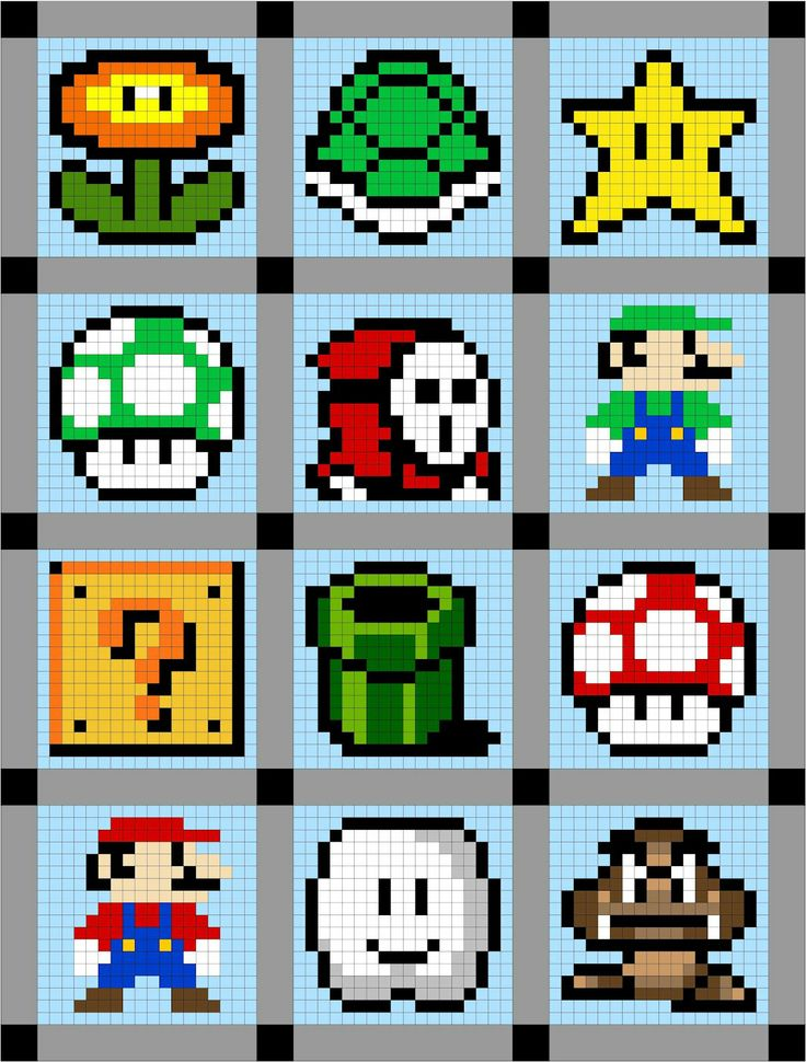 mario brothers quilt | Super Mario Brothers Quilt Along Sneak Peak