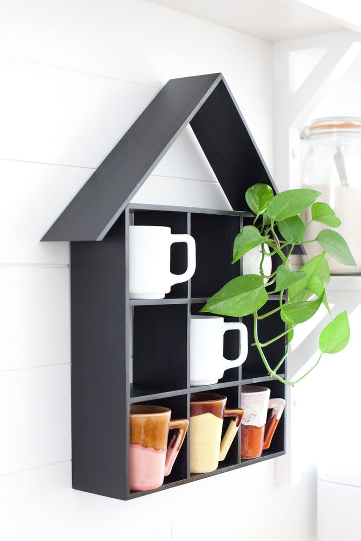 DIY House Shaped Shelf With Simple Step By Step Instructions