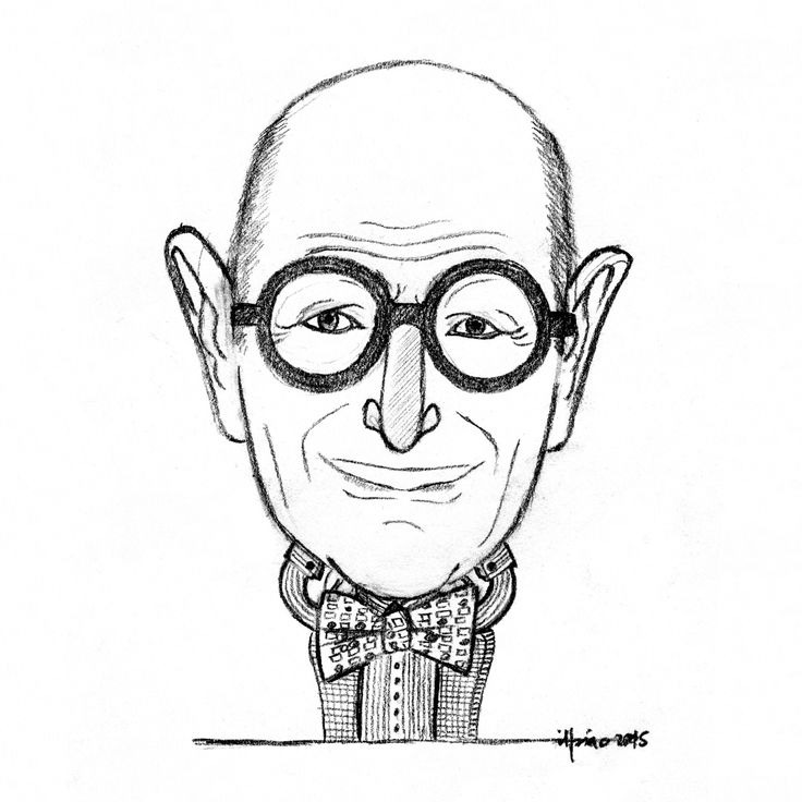 My two cents for the project Wall of Wally: 100 different illustrations of Wally Olins made by 100 illustrators.