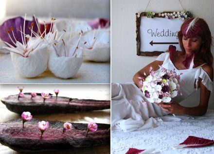 Matrimonio Vegano: bouquet di carta. Vegan wedding: paper flowers  bouquet white, green, marsala  Alessandra Fabre Repetto. Eco wedding design