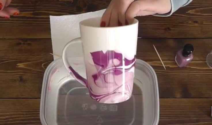 Este asombroso truco te enseñará a crear un diseño divertido a tus tazas en 1 minuto