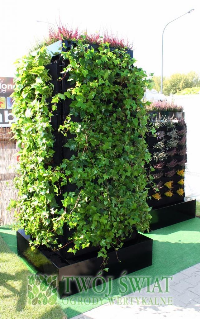Mobilny, zewnętrzny ogród wertykalny idealny np. na targi.