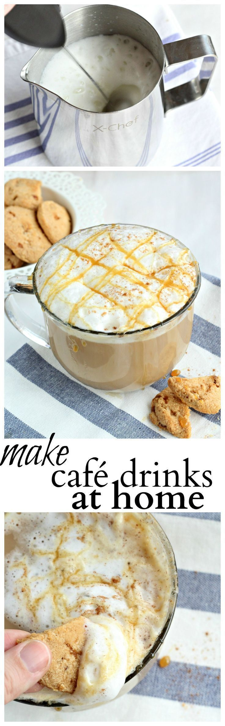 An easy recipe to make cafe drinks at home, for a little indulgence in your day. #MilkFrother #ad