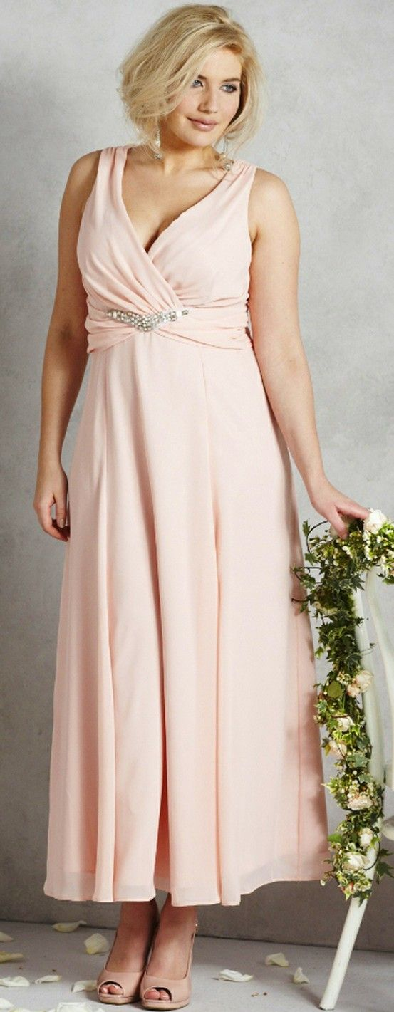 SECOND WEDDING DRESSES - peach wedding dress plus size simplybe READ ABOUT RULES FOR YOUR SECOND OR THIRD OR TWELFTH WEDDING by clicking on this photo