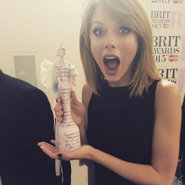 Taylor Swift and her first Brit Awards.