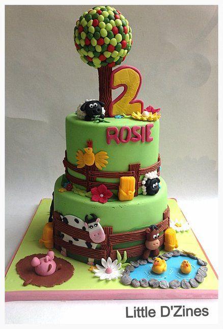 Cake Decoration Farm Theme : 105 best images about Gateaux d anniversaire & Birthday ...