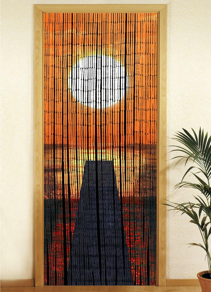 WENKO Bambusvorhang Sonnenuntergang | OGRÓD Akcesoria ogrodowe Pozostałe zachód słońca