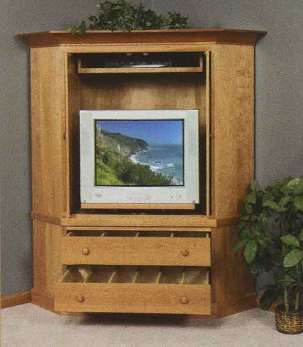 corner tv cabinets with doors the pleasant hill 32 quot  tv Corner TV Stands with Doors Tall Corner TV Cabinet Cherry