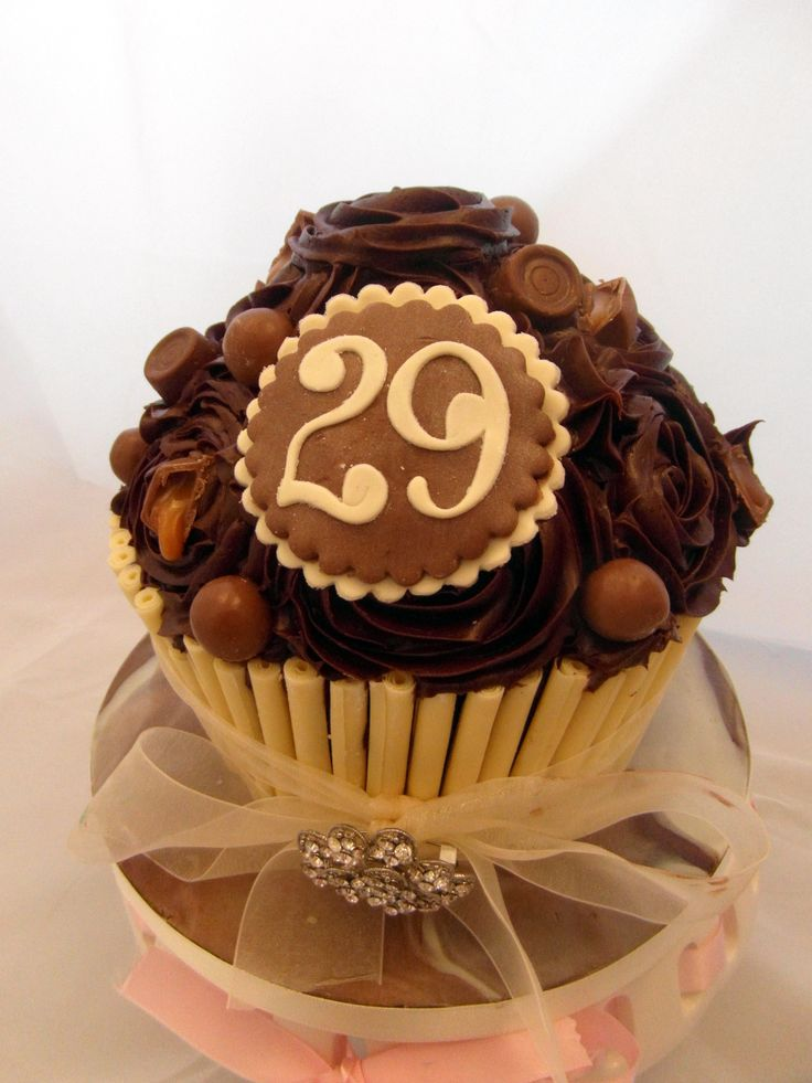 Giant chocolate lovers cupcake by Fondant Fantastic