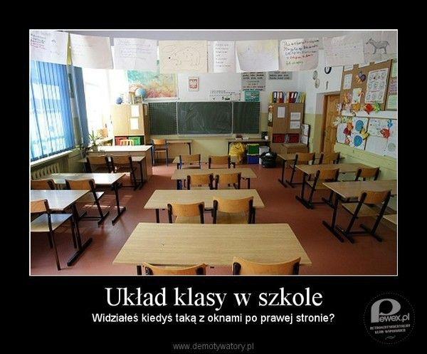 Układ klasy w szkole – Nie dziwiło Cię, że zawsze tak było?