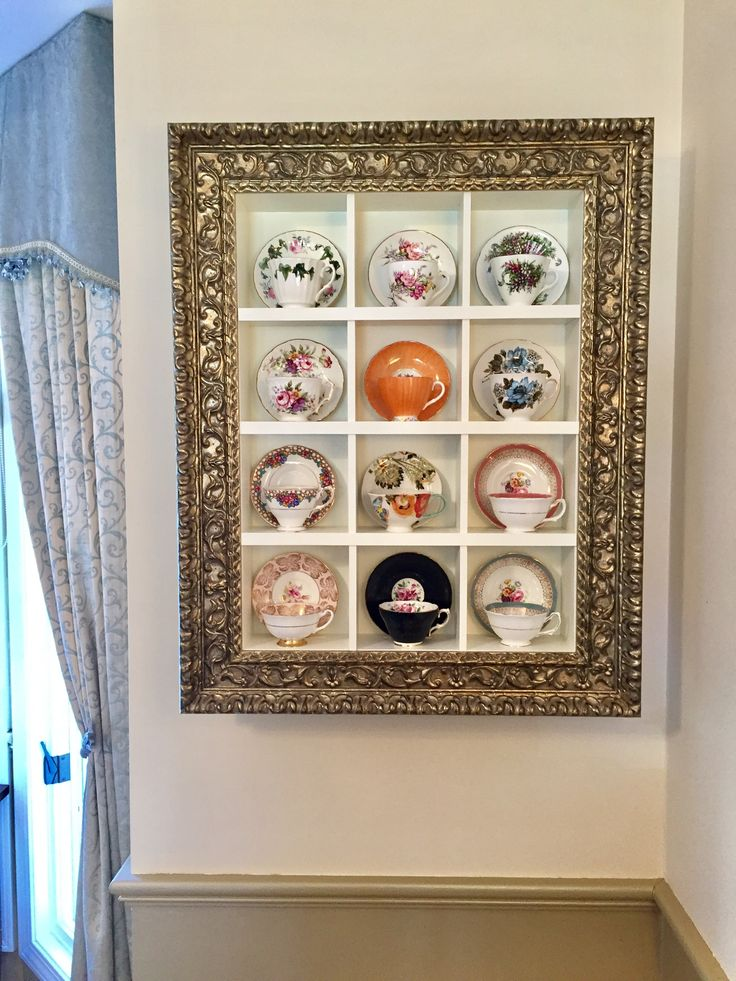 Best 25 Tea Cup Display Ideas On Pinterest Farmhouse Teacups Vintage Decorations And Repurposed