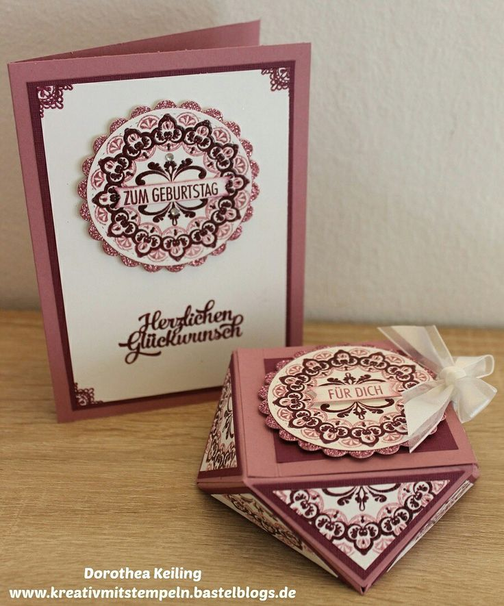 Karte und Diamantbox zum Geburtstag #meinmedaillon #stampinup