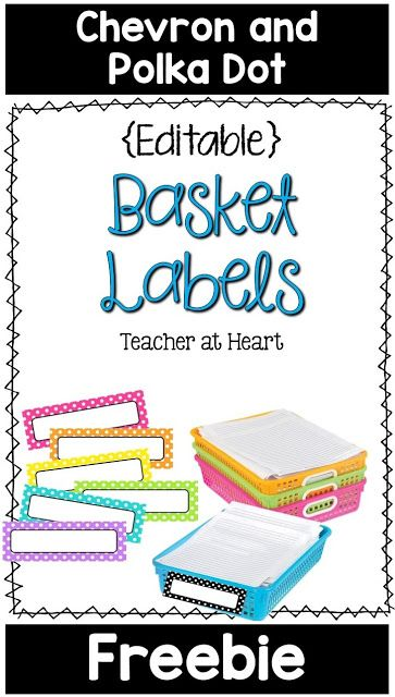 Editable Basket Label Freebie from Teacher at Heart