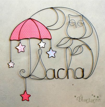 Personalized wire wall ornament
