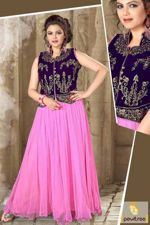 #CobaltBlue and #Pink Wedding Reception Gowns Online Shopping #gown, #gownonline, #promdresses, #bridal, #bridalwear, #bride, #vibrant, #party, #wedding, #partyoutfits, #latest, #shaddi, #newcollection, #western,   #westernstyle, #eveninggown More Product : http://www.pavitraa.in/store/gown/ Any Query :  Call / WhatsApp : +91-76982-34040  E-mail: info@pavitraa.in