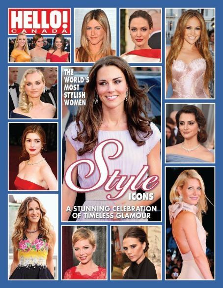 Jennifer Aniston, Angelina Jolie, Diane Kruger, Penélope Cruz, Anne Hathaway, Kate Middleton, Sarah Jessica Parker, Victoria Beckham, Gwyneth Paltrow - Hello! Magazine Cover [Canada] (16 April 2012)