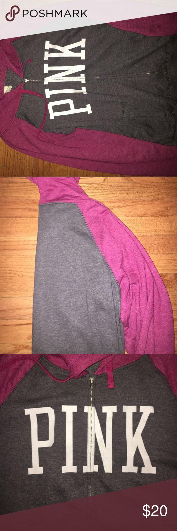 VS PINK zip up hoodie Zip up, VS PINK hoodie is the perfect cozy sweatshirt for your closet PINK Victoria's Secret Tops Sweatshirts & Hoodies