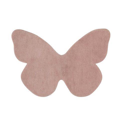 Tapis papillon rose 60 x 85 cm BUTTERFLY
