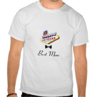 Las Vegas Wedding Black Bow Tie Best Man T-Shirt