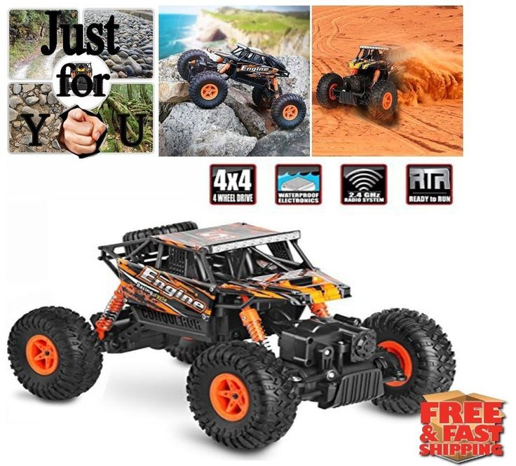 Christmas Gift For Kid Boy RC Car 4X4 4WD Electric Remote Control Truck Truggy #CrossRace