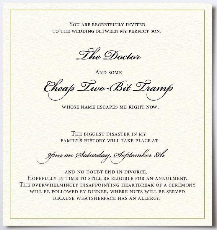 23 best Wedding invitation wording images on Pinterest ...