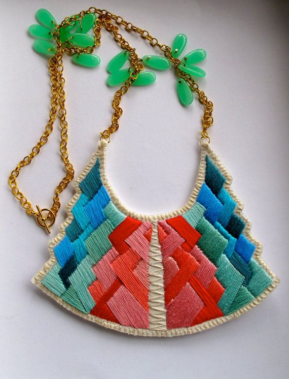 Tribal art deco necklace