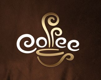 """Amazingly, it has all the """"usual"""" themes of coffee cup with steam and curly font, but how it was creatively put together is unmistakably unique. #logo #coffee"""