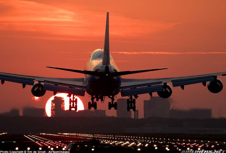 Boeing 747-406M aircraft picture. A sunrise actually, but humor me.